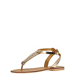 Dorothy Perkins - Gold leather 'magic' sandals