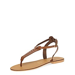 Dorothy Perkins - Tan leather sandals