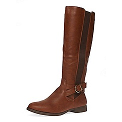 Dorothy Perkins - Tan 'tally' riding boots