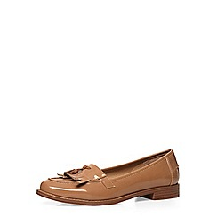 Dorothy Perkins - Taupe 'lama' loafers