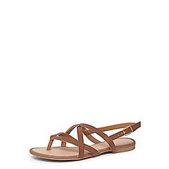 Dorothy Perkins - Tan fine strappy sandals