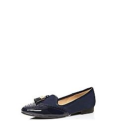 Dorothy Perkins - Navy link tassel loafers