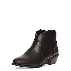 Dorothy Perkins - Black mia western boot