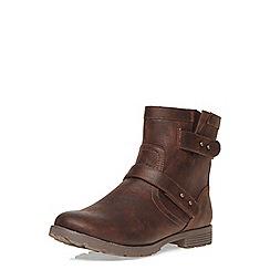 Dorothy Perkins - Chocolate 'bando' biker boots