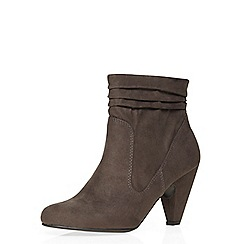 Dorothy Perkins - Grey 'melonie' rouched boots