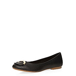 Dorothy Perkins - Black hendon buckle pumps