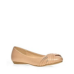 Dorothy Perkins - Nude 'hennie' swish pumps