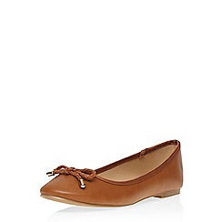 Dorothy Perkins - Tan 'pixie' ballet pumps