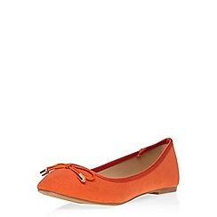 Dorothy Perkins - Orange 'pixie' ballet pumps