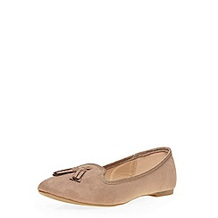 Dorothy Perkins - Taupe 'heron' slipper pumps