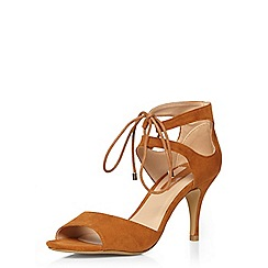 Dorothy Perkins - Tan sapphire lace up sandals