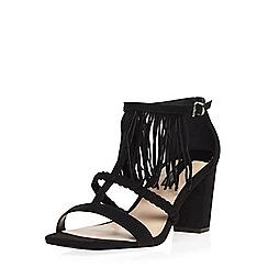 Dorothy Perkins - Black 'suzie' fringe sandals