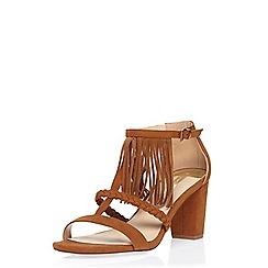 Dorothy Perkins - Tan 'suzie' fringe sandals