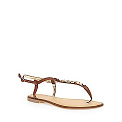 Dorothy Perkins - Tan 'sassie' square gem sandals