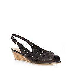 Dorothy Perkins - Black violet lazer wedges