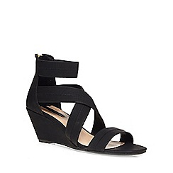 Dorothy Perkins - Black vixen elastic wedges