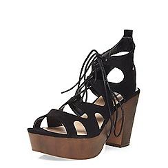Dorothy Perkins - Black 'petra' heeled sandals