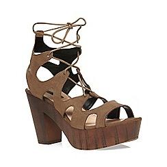 Dorothy Perkins - Khaki 'petra' ghillie sandals