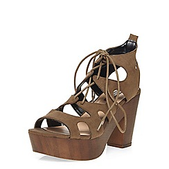 Dorothy Perkins - Khaki 'petra' heeled sandals