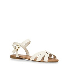Dorothy Perkins - White 'shine' 2 part sandals