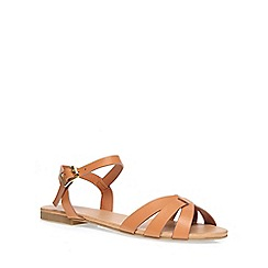 Dorothy Perkins - Tan shine 2 part sandals