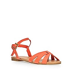 Dorothy Perkins - Orange 'shine' 2 part sandals