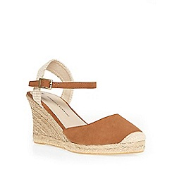 Dorothy Perkins - Tan 'venice' espadrille wedge