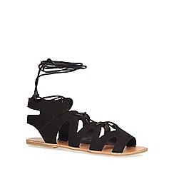 Dorothy Perkins - Black sage ghillie sandals