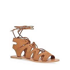 Dorothy Perkins - Tan sage ghillie sandals