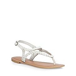 Dorothy Perkins - White leather 'shelby' sandals
