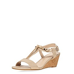 Dorothy Perkins - Gold 'ventra' t bar wedges