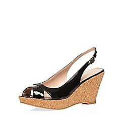 Dorothy Perkins - Black 'voxy' slingback wedges