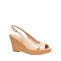 Dorothy Perkins - Nude 'voxy' sling back wedges