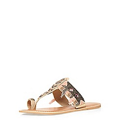 Dorothy Perkins - Leather pink 'sosho' sandal