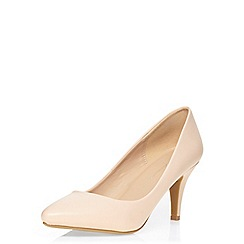 Dorothy Perkins - Nude dream mid court shoes