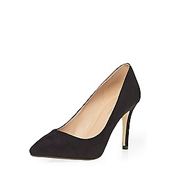 Dorothy Perkins - Black disco suede look mid court shoes