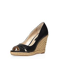 Dorothy Perkins - Black callie peep toe wedges
