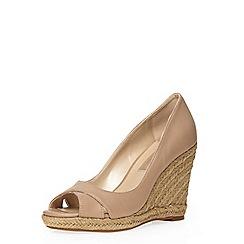Dorothy Perkins - Blush callie peep toe wedges