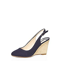 Dorothy Perkins - Navy clara sling back wedge shoes