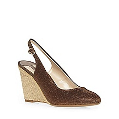 Dorothy Perkins - Bronze niscose wedges