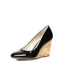 Dorothy Perkins - Black chloe wedge court shoes