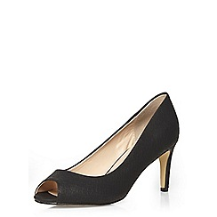 Dorothy Perkins - Black peep toe courts