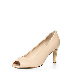 Dorothy Perkins - Nude peep-toe court shoes