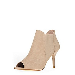 Dorothy Perkins - Sand leigh peep toe shoe boots