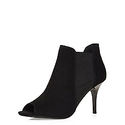 Dorothy Perkins - Black leigh peep toe shoe boots