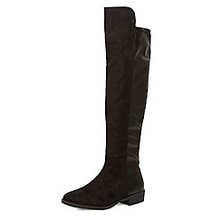 Dorothy Perkins - Black suede-effect over the knee boots