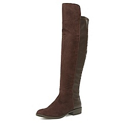 Dorothy Perkins - Chocolate suede effect over the knee boots