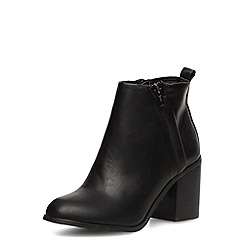 Dorothy Perkins - Black heeled ankle boots