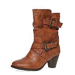 Dorothy Perkins - Tan 'betsey' mid calf boots