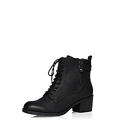 Dorothy Perkins - Black 'believe' lace up boots